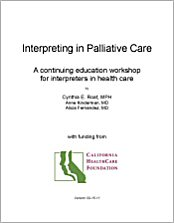 Interpreting in Palliative Care